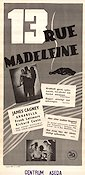 13 Rue Madeleine 1947 Movie poster James Cagney