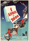 1. April 2000 1952 Movie poster Hilde Krahl