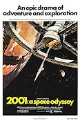 2001 A Space Odyssey 1968 Movie poster Arthur C Clark Stanley Kubrick