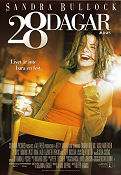 28 Days 1999 Movie poster Sandra Bullock