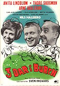 3 dar i buren 1963 Movie poster Anita Lindblom