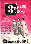 Three Coins in the Fountain 1954 Movie poster Clifton Webb