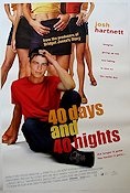 40 Days and 40 Nights 2001 poster Josh Hartnett