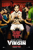 The 40 Year Old Virgin 2005 Movie poster Steve Carell