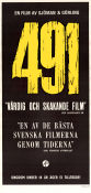491 1964 Movie poster Lena Nyman Vilgot Sj�man