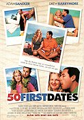 50 First Dates 2004 Movie poster Adam Sandler