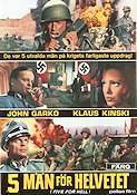 Five for Hell 1969 poster Klaus Kinski