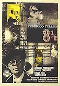 8 1\2 1963 Movie poster Marcello Mastroianni Federico Fellini