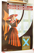 Mister X City of Dreams Vortex Signed 1983 poster