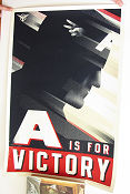 Limited litho A Is For Victory Captain America No 57 of 375 2011 poster