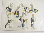 Original animation model BUGS BUNNY Warner Bros Signed w Certificate 2011 poster