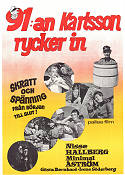 91:an Karlsson rycker in 1955 Movie poster Minimal �str�m