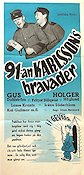91:an Karlssons bravader 1951 Movie poster Gus Dahlstr�m