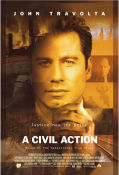 A Civil Action 1998 Movie poster John Travolta