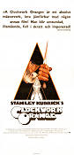 A Clockwork Orange 1971 Movie poster Malcolm McDowell Stanley Kubrick