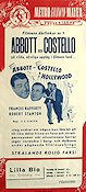 Abbot och Costello i Hollywood 1946 poster Abbott and Costello