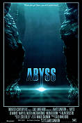 The Abyss 1989 Movie poster Ed Harris James Cameron