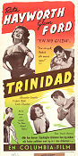 Affair in Trinidad 1952 poster Rita Hayworth Vincent Sherman