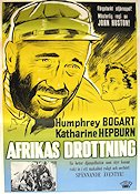The African Queen 1951 Movie poster Humphrey Bogart John Huston