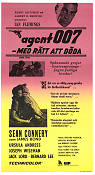 Dr No 1963 Movie poster Sean Connery Terence Young