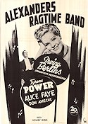 Alexander's Ragtime Band 1938 Movie poster Tyrone Power