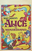 Alice in Wonderland 1950 poster