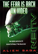 Alien VHS 1979 Movie poster Sigourney Weaver Ridley Scott