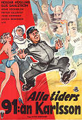 Alla tiders 91:an Karlsson 1953 Movie poster Holger Höglund
