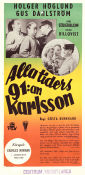 Alla tiders 91:an Karlsson 1953 Movie poster Holger H�glund
