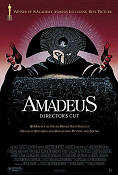 Amadeus 1984 Movie poster Tom Hulce Milos Forman