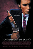 American Psycho 2000 Movie poster Christian Bale Mary Harron