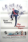 The Anderson Tapes 1971 poster Sean Connery
