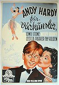 Andy Hardy Gets Spring Fever 1940 poster Mickey Rooney