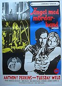 Ängel med mördarhand 1969 Movie poster Anthony Perkins