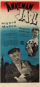 Änkeman Jarl 1945 Movie poster Sigurd Wallén