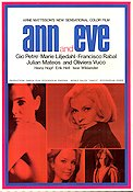 Ann and Eve 1969 Movie poster Gio Petr� Arne Mattsson