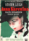 Anna Karenina 1948 Movie poster Vivien Leigh Julien Duvivier