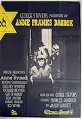 The Diary of Anne Frank 1958 Movie poster Millie Perkins