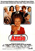 Annie 1982 Movie poster Albert Finney John Huston