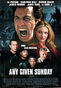 Any Given Sunday 1999 poster Al Pacino Oliver Stone