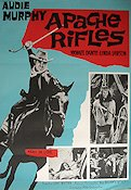 Apache Rifles 1965 Movie poster Audie Murphy