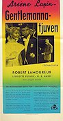 Les aventures d'Arsene Lupin 1957 Movie poster Robert Lamoureaux