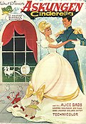 Cinderella 1950 poster Alice Babs