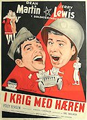 At War with the Army 1950 poster Dean Martin