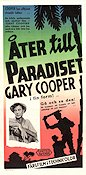 Return to Paradise 1952 Movie poster Gary Cooper
