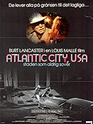 Atlantic City USA 1981 Movie poster Burt Lancaster Louis Malle