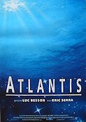 Atlantis 1991 Movie poster Luc Besson