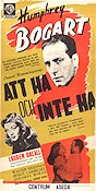 To Have and Have Not 1944 Movie poster Humphrey Bogart Howard Hawks