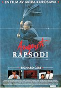 Rhapsody in August 1991 Movie poster Richard Gere Akira Kurosawa