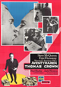 The Thomas Crown Affair 1968 poster Steve McQueen Norman Jewison